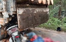 Tông vào đuôi xe tải, 2 mẹ con tử vong