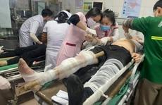 Tai nạn ở công trình trụ sở Sở Tài chính Nghệ An, hàng chục người bị thương