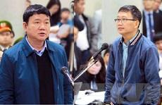 Ông Đinh La Thăng và Trịnh Xuân Thanh cùng hầu toà trong vụ án Ethanol Phú Thọ