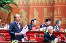 Thủ tướng Nguyễn Xuân Phúc điều hành ngày làm việc thứ ba của Đại hội XIII