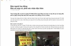 Thủ tướng yêu cầu UBND TP HCM xác minh nội dung Báo Người Lao Động phản ánh