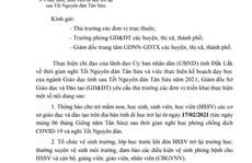 Đắk Lắk: Phụ huynh lo lắng khi con em đi học lại vào mùng 6 Tết