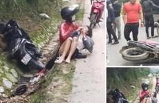 Cướp giật khiến cô gái ngã xe máy bị thương còn đi lại ở hiện trường, tỏ vẻ vô can