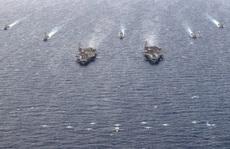 Hai nhóm tàu sân bay Mỹ 'vờn nhau' trên biển Đông