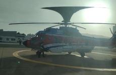 Dùng trực thăng đưa thẳng 1 người nước ngoài từ vùng biển BR-VT về TP HCM