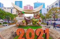 Đường hoa Nguyễn Huệ Tết Tân Sửu 2021 'lộ diện' trước ngày khai mạc