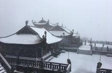 CLIP: Cảnh tuyệt đẹp trên đỉnh Fansipan khi mưa tuyết rơi dày