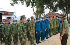 Công an An Giang thăm và kiểm tra các chốt phòng, chống Covid-19 tuyến biên giới