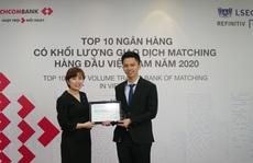 Techcombank được vinh danh Top 4 Ngân hàng giao dịch Matching lớn nhất thị trường ngoại hối Việt Nam 2020