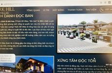 Đất ở riêng lẻ được thổi phồng thành dự án biệt thự nghỉ dưỡng Park Hill Villas ở Huế