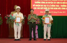 Bình Định có hai tân phó giám đốc Công an tỉnh