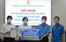 Công đoàn Điện lực Việt Nam hỗ trợ Liên đoàn Lao động TP Hồ Chí Minh phòng, chống dịch Covid-19