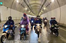 'Mở' hầm Hải Vân cho đoàn người đi xe máy từ phía Nam về quê