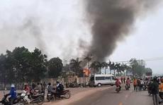 Cháy lớn tại nhà máy may IVORY ở Thanh Hóa