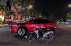 Lái ô tô cán qua xe máy của 2 tên trộm chuyên nghiệp tại Vũng Tàu