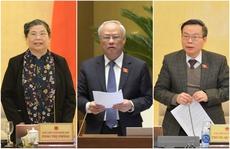 Trình Quốc hội miễn nhiệm 3 Phó Chủ tịch Tòng Thị Phóng, Uông Chu Lưu, Phùng Quốc Hiển