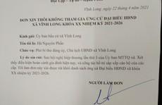 Chủ tịch xã vừa bị kỷ luật cảnh cáo xin rút khỏi danh sách bầu đại biểu HĐND xã