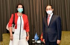 Bộ trưởng Ngoại giao Bùi Thanh Sơn gặp Đặc phái viên Tổng thư ký LHQ về Myanmar