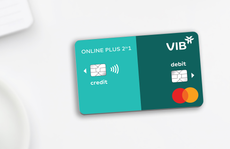 Dòng thẻ VIB Online Plus 2in1 tích hợp thẻ tín dụng và thẻ thanh toán