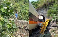 Hình ảnh nghi phạm đứng nhìn tàu tốc hành Đài Loan gặp nạn gây phẫn nộ