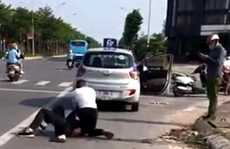 Kỷ luật đại uý công an đứng nhìn người dân bắt tên cướp taxi cực kỳ nguy hiểm