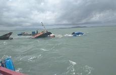 Thuyền trưởng và thuyền viên gặp nạn khi tàu lai dắt chìm trên biển