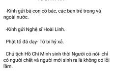 Ông Đoàn Ngọc Hải viết tâm thư gửi nghệ sĩ Hoài Linh