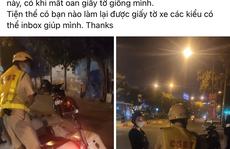 CSGT Tân Sơn Nhất xin lỗi về vụ 'phạt nhầm' gây xôn xao mạng xã hội