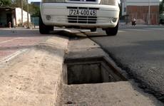 Kinh hoàng thấy hàng loạt chiếc bẫy trên đường ở Phú Mỹ
