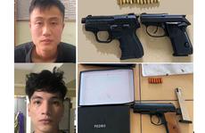 2 đối tượng dương tính với ma túy, 'lận lưng' 3 khẩu súng và 18 viên đạn
