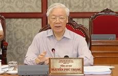 Tổng Bí thư chủ trì họp Bộ Chính trị về phòng chống dịch Covid-19