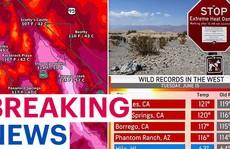 Thung lũng Chết sắp phá kỷ lục thiêu đốt 56,7 độ C