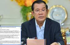 Covid-19: Thủ tướng Hun Sen cách ly 14 ngày