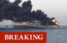Tàu hải quân lớn nhất Iran chìm trong vụ hoả hoạn