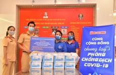 Đoàn thanh niên CSGT TP HCM tiếp sức tuyến đầu chống dịch Covid-19
