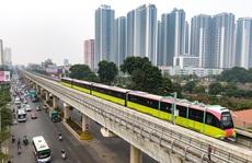 Tàu đường sắt trên cao Nhổn-ga Hà Nội chạy thử nghiệm để chuẩn bị vận hành