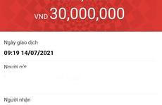 Lệ phí xét tuyển ĐH 30.000 đồng, gia đình chuyển nhầm 30 triệu đồng