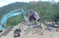 Tìm thấy nhiều đồ vật nghi của các nạn nhân mất tích ở Thủy điện Rào Trăng 3