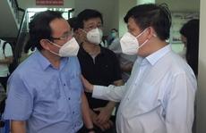 Bí thư Thành uỷ TP HCM và Bộ trưởng Bộ Y tế khảo sát bệnh viện tư tham gia điều trị Covid-19
