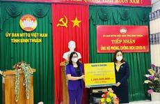 Nam A Bank trao tặng hàng ngàn phần quà đến người dân vùng dịch