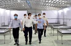 Kiểm tra công tác phòng, chống dịch ở Bệnh viện dã chiến số 1 tại KCN Thành Thành Công