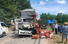 Tài xế xe tải tử vong sau cú tông trực diện với xe đầu kéo