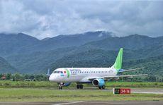 Máy bay phản lực Embraer bay thử nghiệm đến Điện Biên