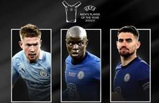 De Bruyne, Jorginho, Kante cạnh tranh danh hiệu 'Cầu thủ xuất sắc nhất năm'