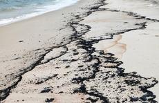 Gần 3km bờ biển Quảng Bình bất ngờ xuất hiện vệt dầu lạ