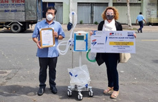 Doanh nghiệp châu Âu tặng máy thở cho TP HCM và Bình Dương