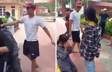 Nữ sinh lớp 7 bị thanh niên tát, bắt quỳ gối giữa sân trường