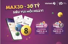 Vé số Max 3D bán liên tục 6 ngày trong tuần