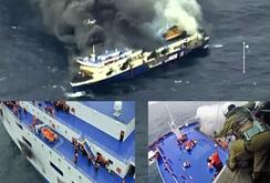 Vụ cháy tàu trên biển Hy Lạp: 10 người chết, 41 người vẫn mất tích