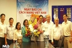 Ban Tuyên giáo Thành ủy TP HCM thăm Báo Người Lao Động
